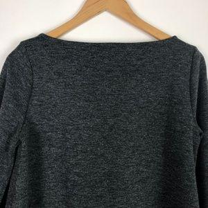 LOFT Tops - LOFT Charcoal Gray Ponte Knit 3/4 Sleeve Top